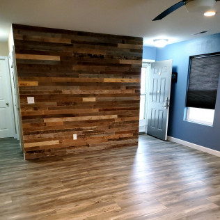 Shiplap wall feature, Luxury vinyl plank flooring,Lincoln, North Dakota